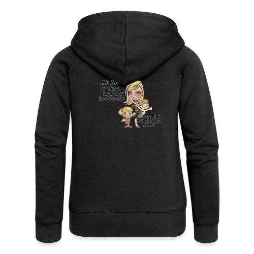 Mama która zastąpi każdego - Rozpinana bluza damska z kapturem Premium