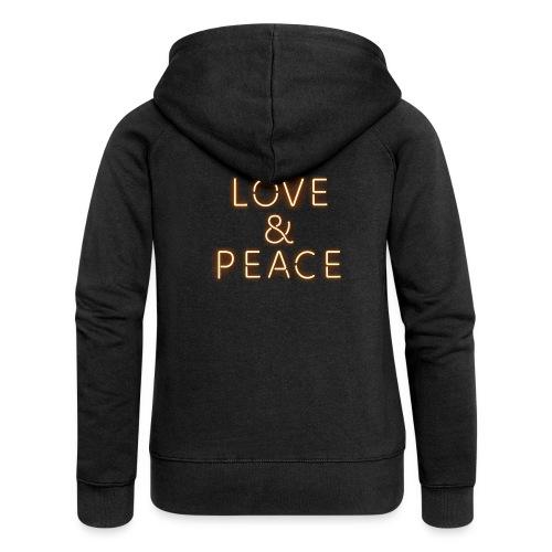 Love And Peace Neon - Frauen Premium Kapuzenjacke