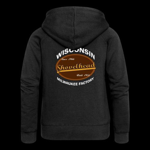 Milwaukee Shovelhead - Frauen Premium Kapuzenjacke