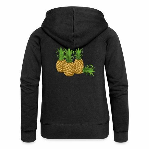 Ananas - Frauen Premium Kapuzenjacke
