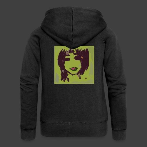 Green brown girl - Women's Premium Hooded Jacket