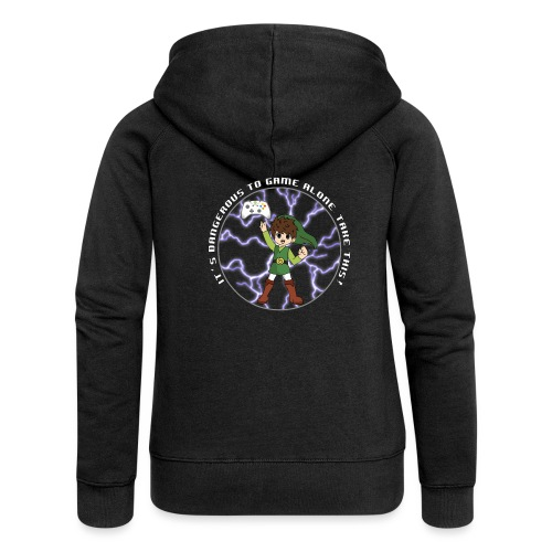 Dangerous To Game Alone - Women's Premium Hooded Jacket