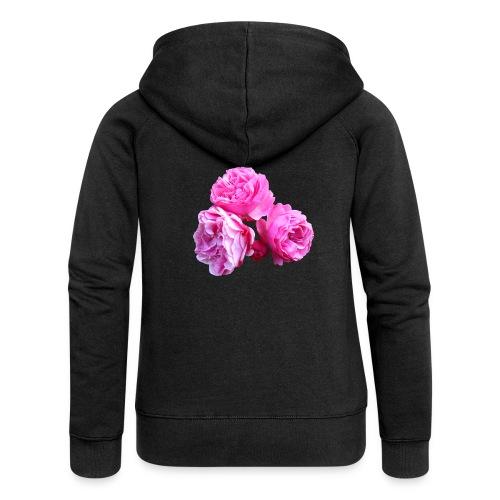 Rose rosa rot Sommer - Frauen Premium Kapuzenjacke