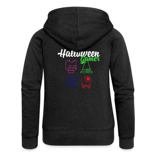 Halloween Gamer Zocken Gaming Controller Shirt - Frauen Premium Kapuzenjacke