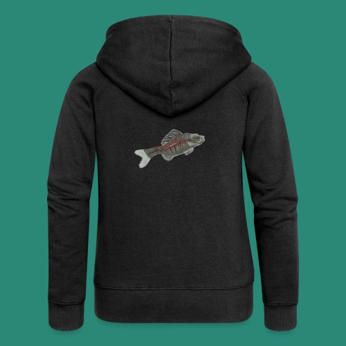 Der Fisch ist bunt - Frauen Premium Kapuzenjacke