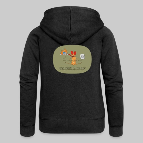 VJocys Internet - Women's Premium Hooded Jacket