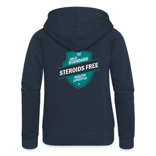 GoldStd-SteroidsFree-33 - Women's Premium Hooded Jacket