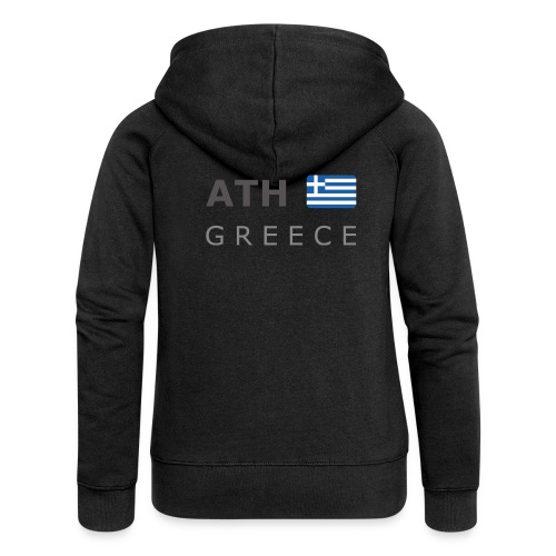 ATH GREECE dark-lettered 400 dpi - Women's Premium Hooded Jacket