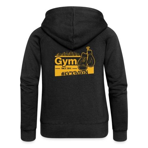 Gym Druckfarbe Orange - Frauen Premium Kapuzenjacke