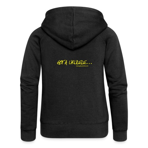 Official Got A Ukulele website t shirt design - Women's Premium Hooded Jacket