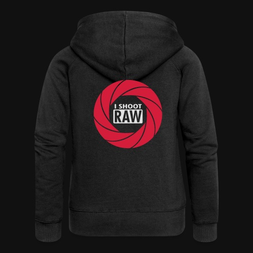 I SHOOT RAW - Frauen Premium Kapuzenjacke