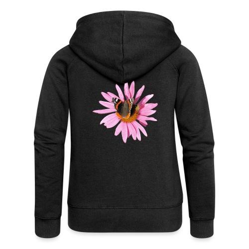 TIAN GREEN Garten - Sonnenhut Schmetterling - Frauen Premium Kapuzenjacke