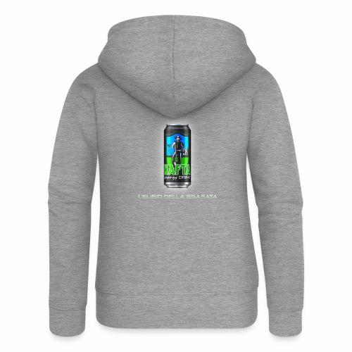 Nafta Energy Drink - Felpa con zip premium da donna
