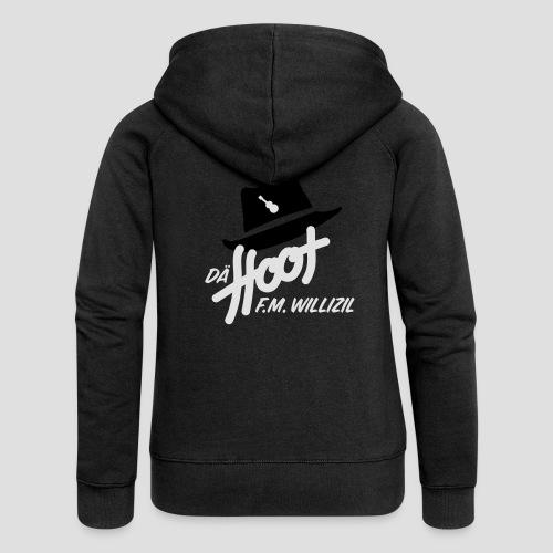 daeHoot_Shirt_Logo1_2c - Frauen Premium Kapuzenjacke