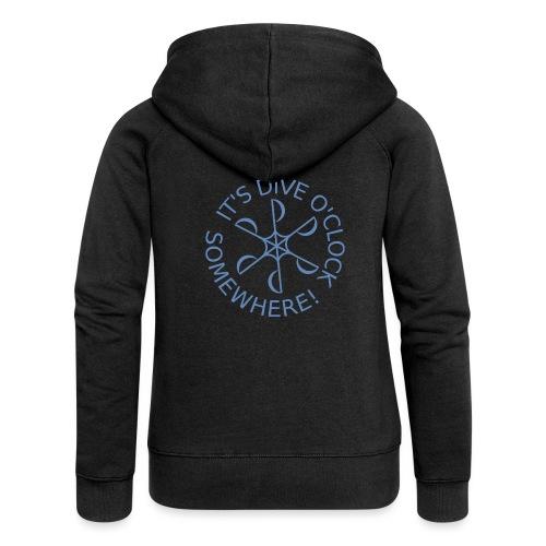 Dive o clock Light Blue - Women's Premium Hooded Jacket