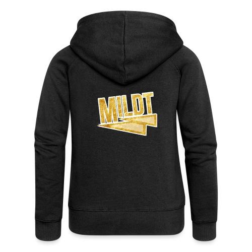 MILDT Gouden Vrouwen Shirt - Vrouwenjack met capuchon Premium