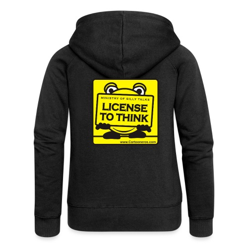 Licence to Think - Women's Premium Hooded Jacket