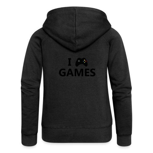 I Love Games 3 - Chaqueta con capucha premium mujer
