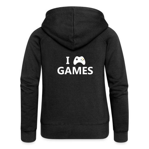 I Love Games 2 - Chaqueta con capucha premium mujer