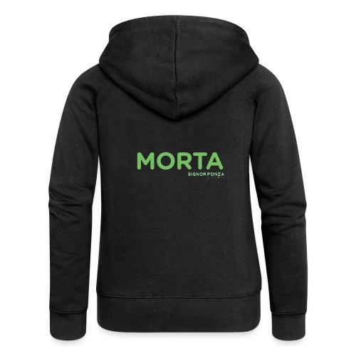 MORTA - Felpa con zip premium da donna