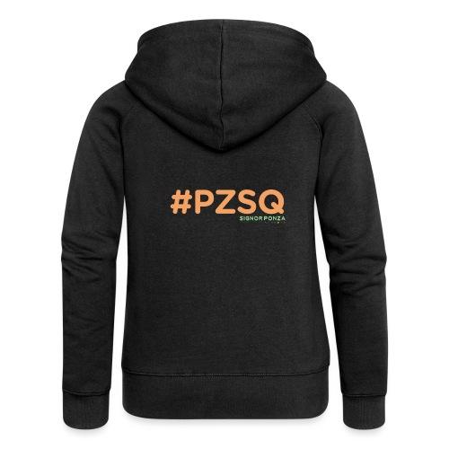 PZSQ 2 - Felpa con zip premium da donna