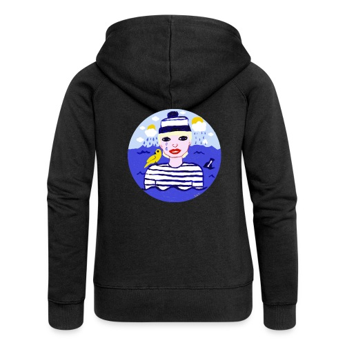 the sailor in love with the sea - Frauen Premium Kapuzenjacke