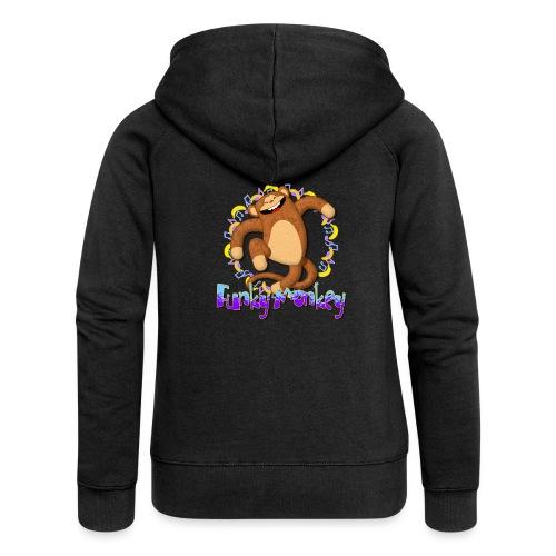 Funky Monkey - Felpa con zip premium da donna