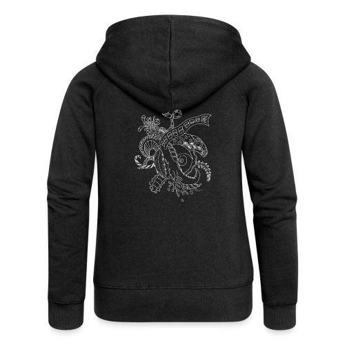 Fantasy white scribblesirii - Women's Premium Hooded Jacket