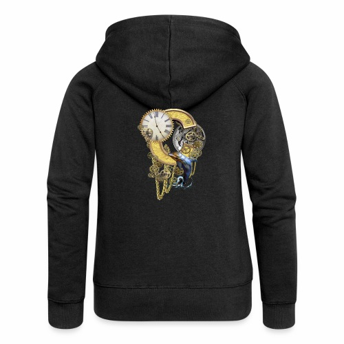 Steampunk Capital C - Women's Premium Hooded Jacket