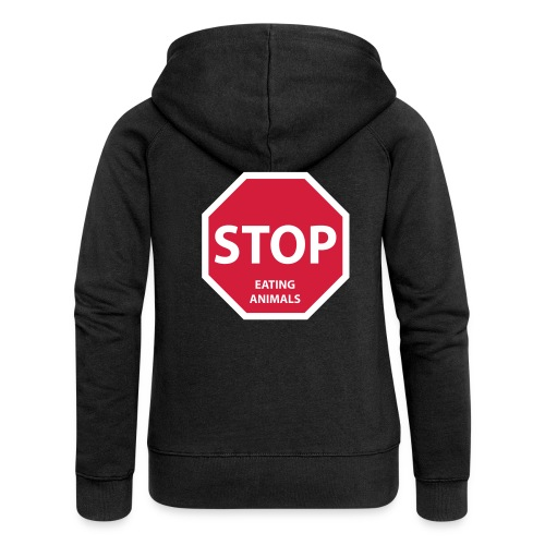 Stop-Eating-Animals - Frauen Premium Kapuzenjacke