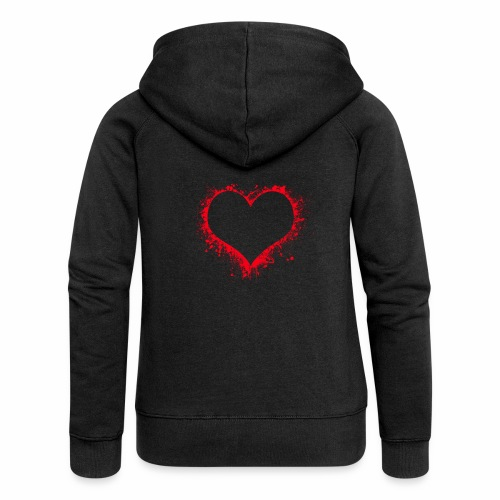 Love you - Frauen Premium Kapuzenjacke