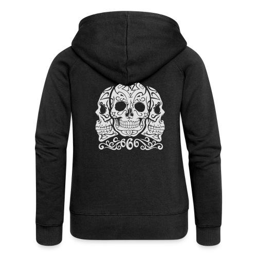 Skull Dia de los muertos - Veste à capuche Premium Femme