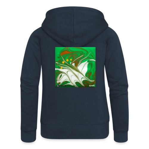 TIAN GREEN Mosaik CG002 - quaKI - Frauen Premium Kapuzenjacke