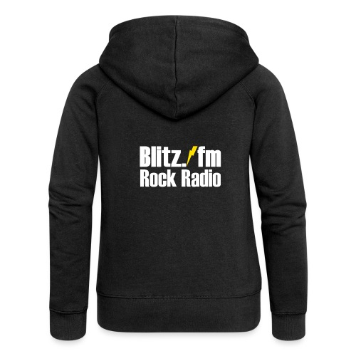 BLITZ FM TSHIRT Schwarz - Frauen Premium Kapuzenjacke
