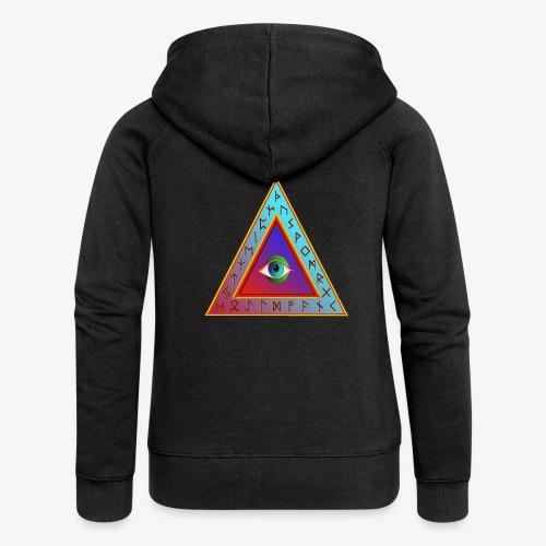 Dreieck - Frauen Premium Kapuzenjacke