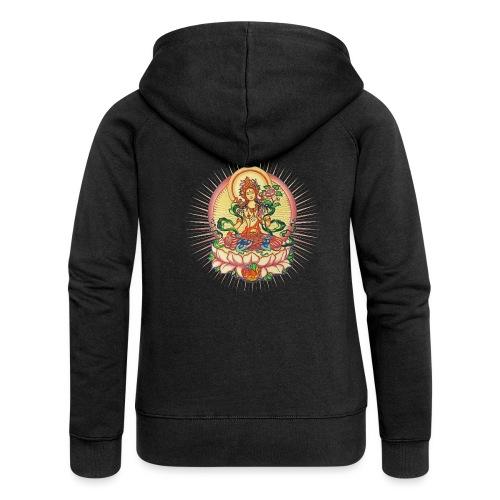 Tara Tibet Buddhismus Lotus Meditation Yoga - Frauen Premium Kapuzenjacke