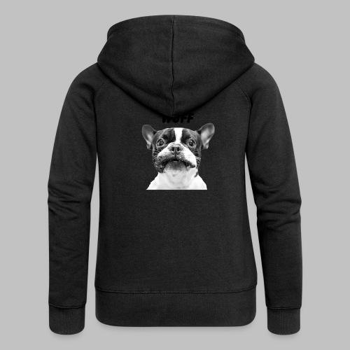 Wuff - Hundeblick - Hundemotiv Hundekopf - Frauen Premium Kapuzenjacke
