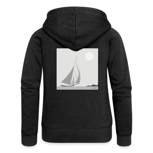 sailing ship - Women's Premium Hooded Jacket