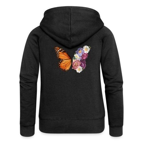 Butterfly Flowers - Women's Premium Hooded Jacket