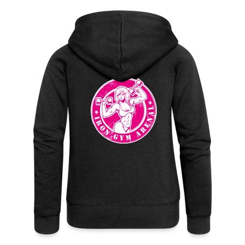 iron girl pink - Chaqueta con capucha premium mujer