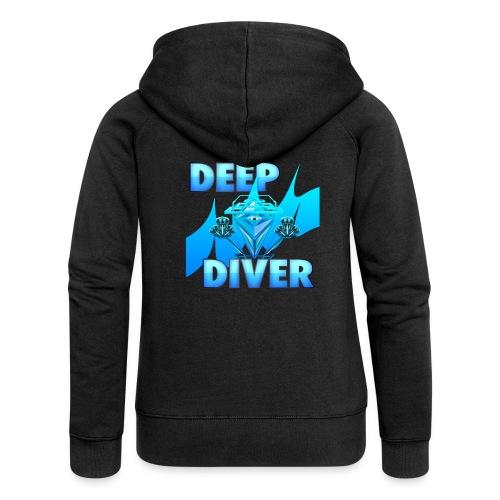 Deep Diver, Ocean Diamond. - Women's Premium Hooded Jacket