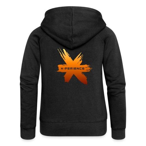 X-Perience Orange Logo - Frauen Premium Kapuzenjacke