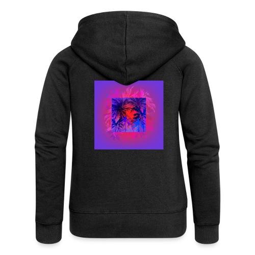 Tropical Summer Nights - Women's Premium Hooded Jacket