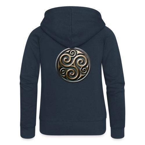 Celtic trisquel - Women's Premium Hooded Jacket