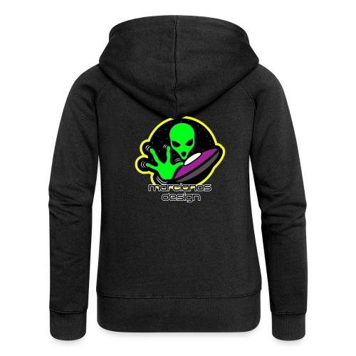 Camisetas y Chaquetas Logo Marcianos Design - Chaqueta con capucha premium mujer