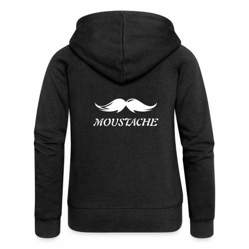 Schnurrbart - Frauen Premium Kapuzenjacke