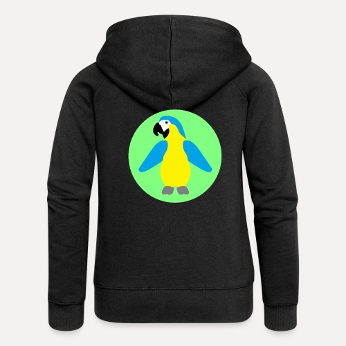 Yellow-breasted Macaw - Women's Premium Hooded Jacket