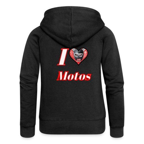 ilovemotos - Chaqueta con capucha premium mujer