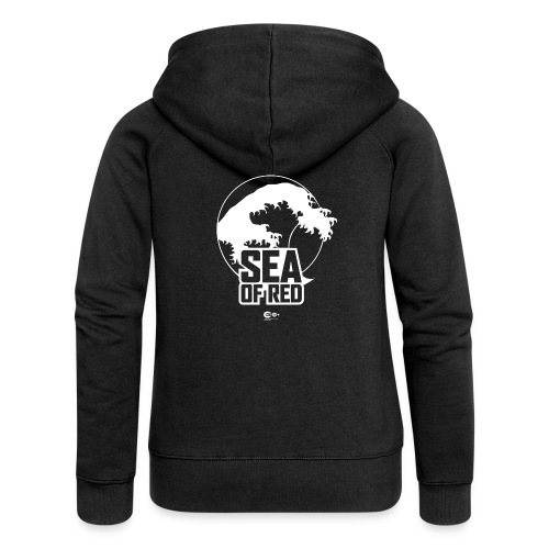 Sea of red logo - white - Women's Premium Hooded Jacket