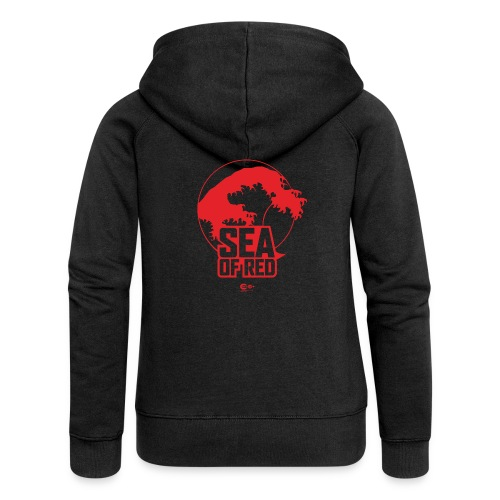 Sea of red logo - small red - Women's Premium Hooded Jacket